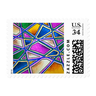 Colorful Abstract Geometry Stamps