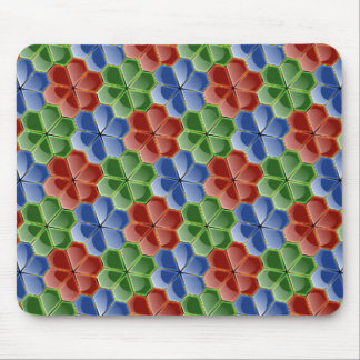 Colorful Abstract Glass Flowers Sm Mouse Pad