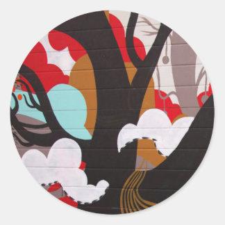 Colorful Abstract Graffiti Sticker