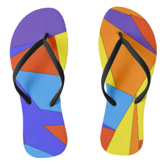 Colorful Abstract Graphic Flip Flops