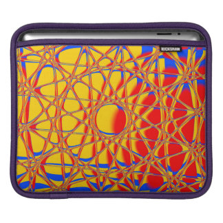 Colorful Abstract Graphic Orange And Blue iPad Sleeve