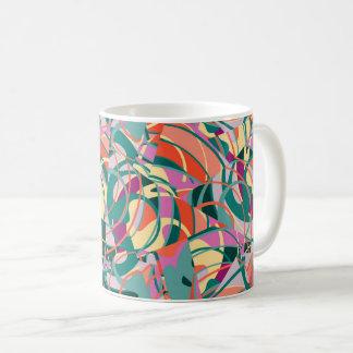 Colorful Abstract - Green,Orange,Yellow Coffee Mug