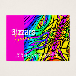 Colorful Abstract Guitar Business Card