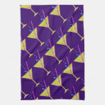 Colorful Abstract Happy Hour Cocktail Party Towel
