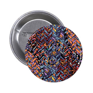 Colorful Abstract Herringbone Zig Zags Pattern Pins