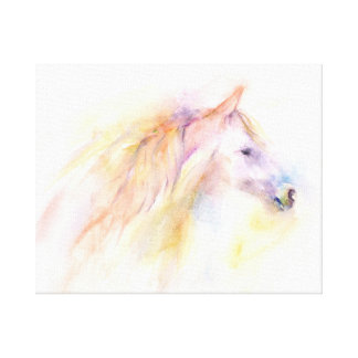 Colorful abstract horse portrait canvas print