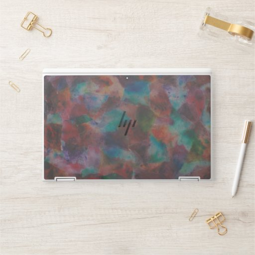 Colorful Abstract HP Laptop Skin