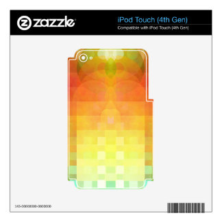 Colorful abstract image decal for iPod touch 4G