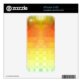 Colorful abstract image skins for the iPhone 4