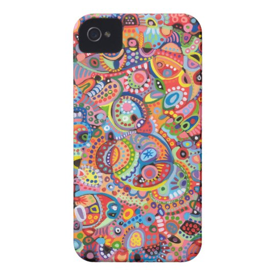 Colorful Abstract iPhone 4/4S Barely There Case