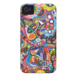 Colorful Abstract iPhone 4/4S Barely There Case iPhone 4 Cover