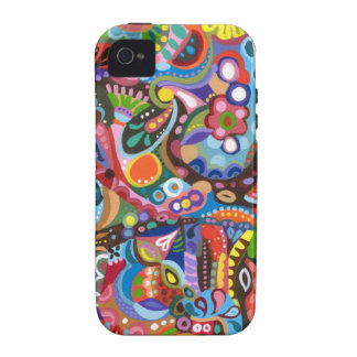 Colorful Abstract iPhone 4/4S Tough Case-Mate Case Vibe iPhone 4 Covers