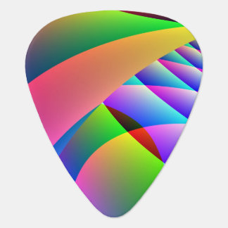 Colorful Abstract Jacobs Ladder Guitar Pick