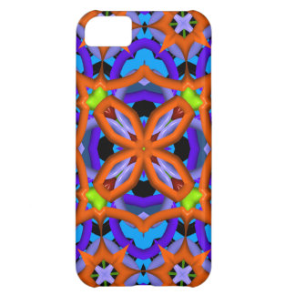 Colorful abstract kaleidoscope iPhone 5C cases