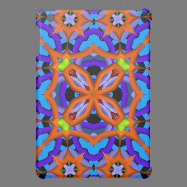 Colorful abstract kaleidoscope cover for the iPad mini
