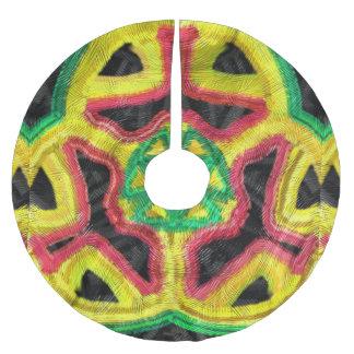 Colorful abstract kaleidoscope tree skirt