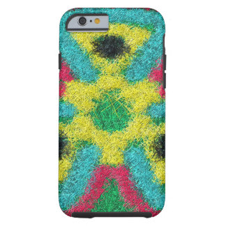 Colorful abstract kaleidoscope tough iPhone 6 case