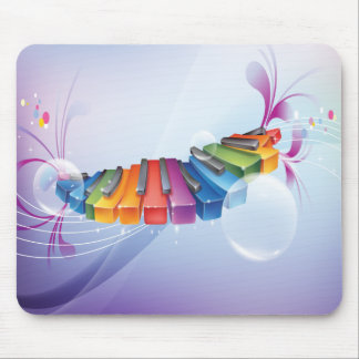 Colorful Abstract Keyboard Mouse Pad