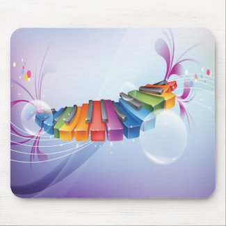 Colorful Abstract Keyboard mousepad