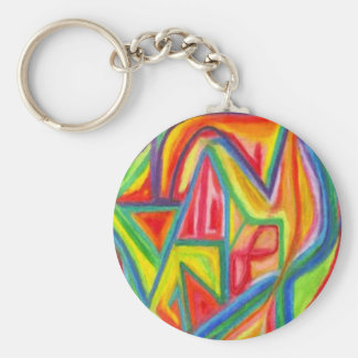 Colorful Abstract Keychain