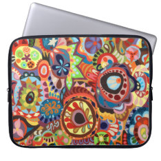 Colorful Abstract Laptop Sleeve at Zazzle