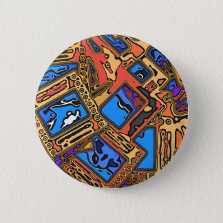 Colorful Abstract Layers Pinback Button
