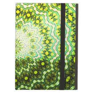 Colorful abstract light pattern iPad folio cases