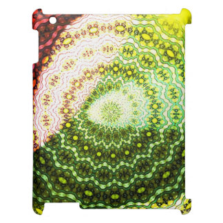 Colorful abstract light pattern iPad case