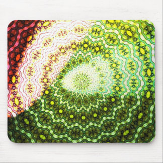 Colorful abstract light pattern mouse pad
