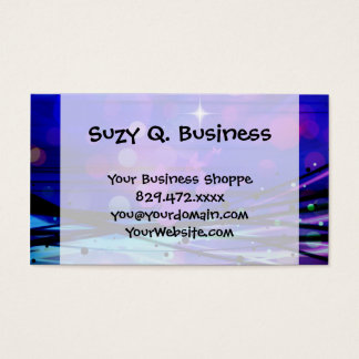 Colorful Abstract Light Rays Butterflies Bubbles Business Card