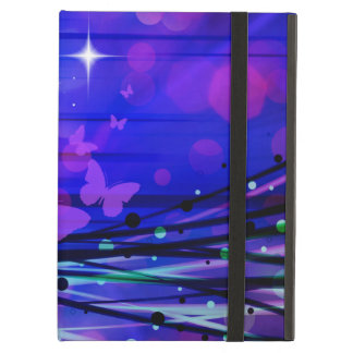 Colorful Abstract Light Rays Butterflies Bubbles iPad Case