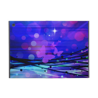 Colorful Abstract Light Rays Butterflies Bubbles iPad Mini Cover