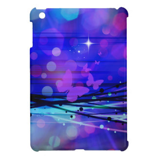 Colorful Abstract Light Rays Butterflies Bubbles iPad Mini Covers