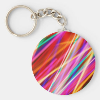 Colorful Abstract Lights Basic Round Button Keychain