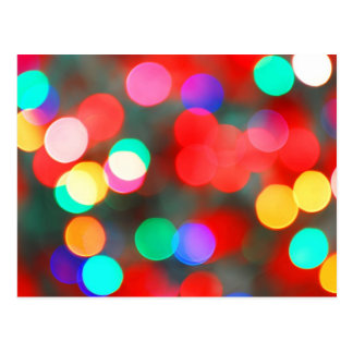 Colorful Abstract Lights Bokeh Postcard
