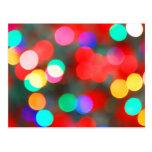 Colorful Abstract Lights Bokeh Postcards