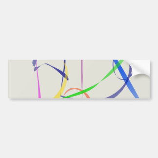 Colorful Abstract Lines Bumper Stickers