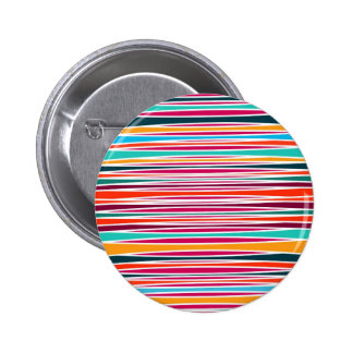 Colorful abstract lines pattern pinback button