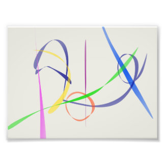 Colorful Abstract Lines Photograph