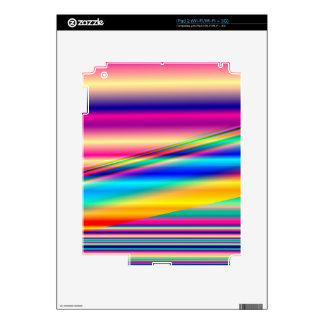 Colorful Abstract Lines: Skin For The iPad 2