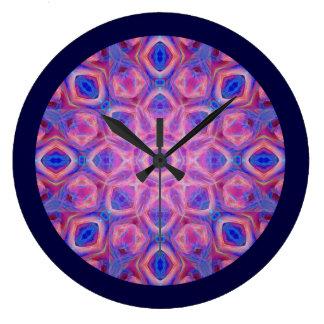 Colorful Abstract Mandala Large Clock