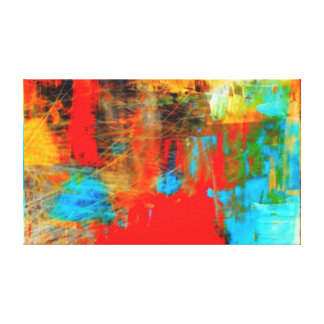 Colorful Abstract Modern Art Canvas Print