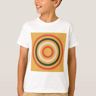 Colorful Abstract Modern Concentric Circle Texture T-Shirt