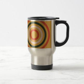 Colorful Abstract Modern Concentric Circle Texture Travel Mug