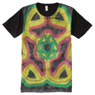 Colorful abstract modern kaleidoscope All-Over-Print T-Shirt