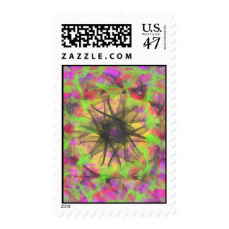 colorful abstract modern pattern postage