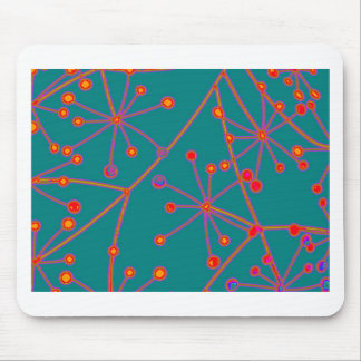 Colorful Abstract Molecules Design Mouse Pad
