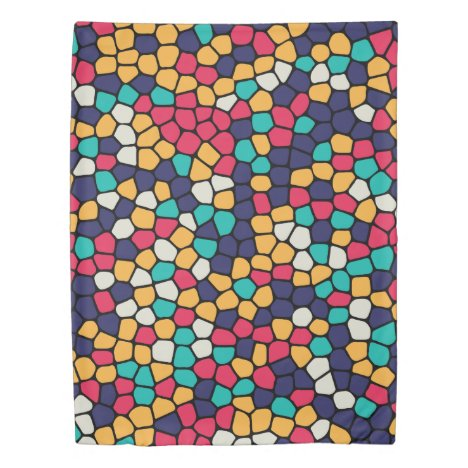 Colorful Abstract Mosaic Pattern Duvet Cover