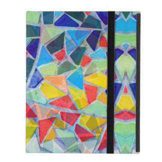 Colorful Abstract Mosaic Pattern iPad Folio Case