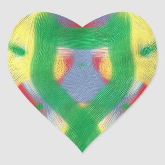 Colorful abstract nice pattern heart sticker